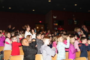 Kids and teachers alike dance along to Keep Rolling