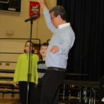 College Community students learn new dance moves from author Eric Litwin